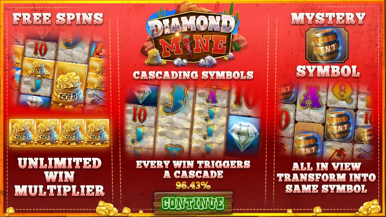 blueprint's diamond mine megaways