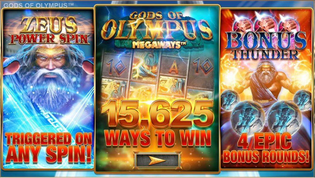 blueprint's gods of olympus megaways