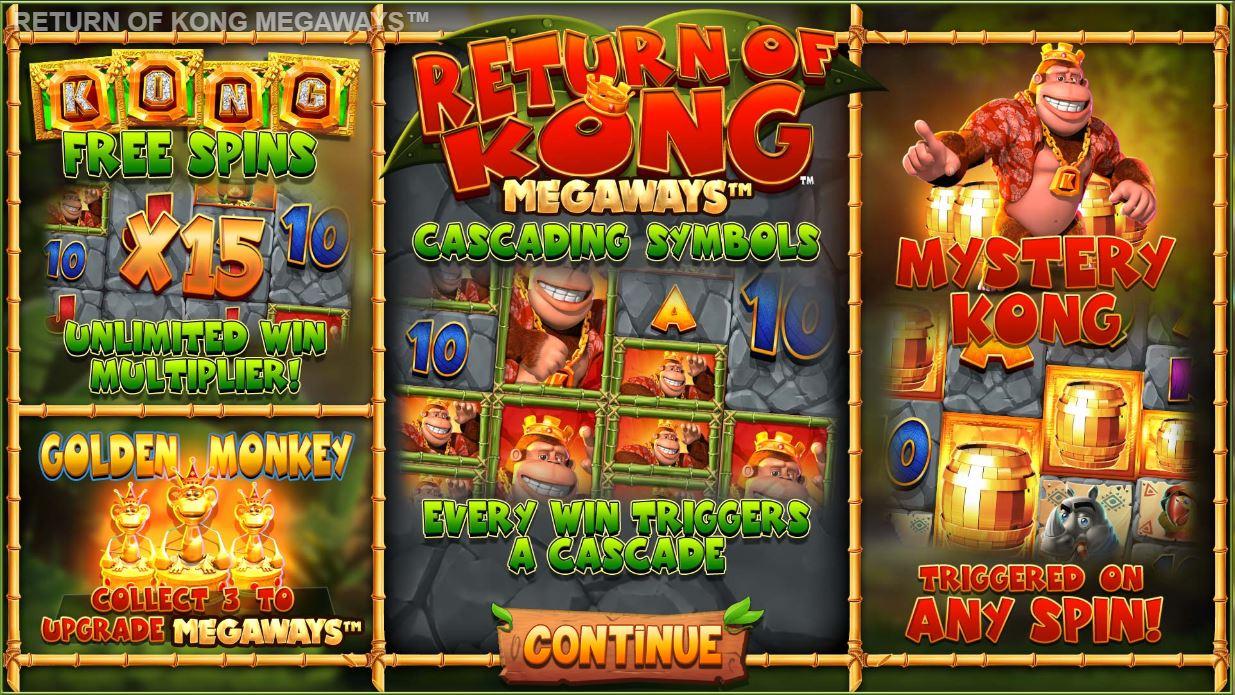 blueprint's return of kong megaways