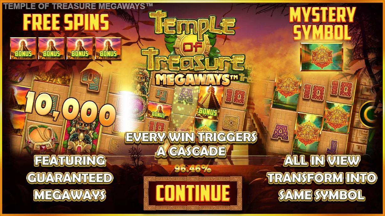 blueprint's temple of treasure megaways