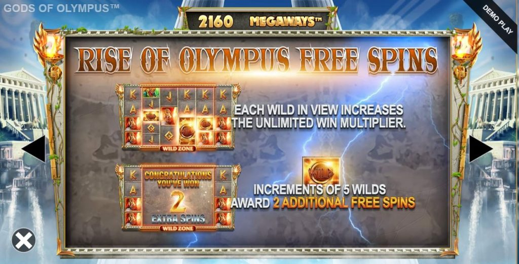 Gods of olympus megaways rise of olympus free spins