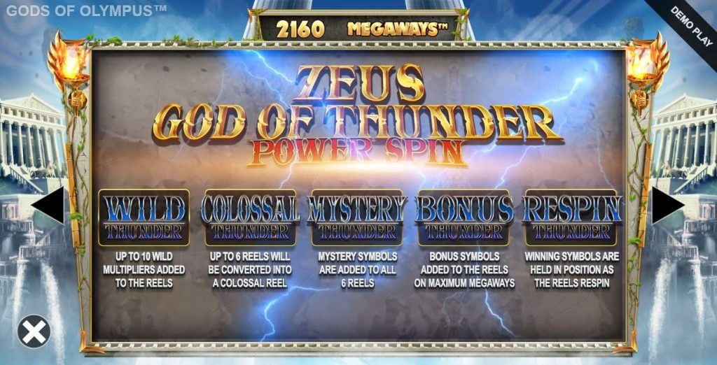 Gods of olympus megaways zeus power spin