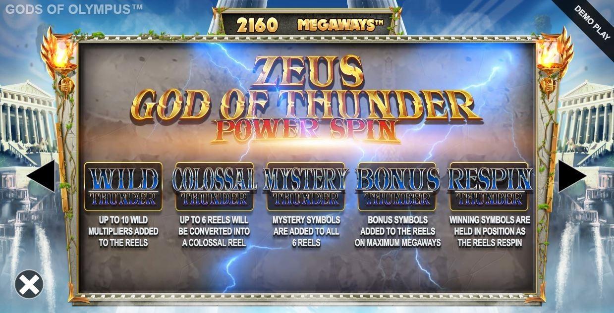 Gods of olympia megaways zeus power spin