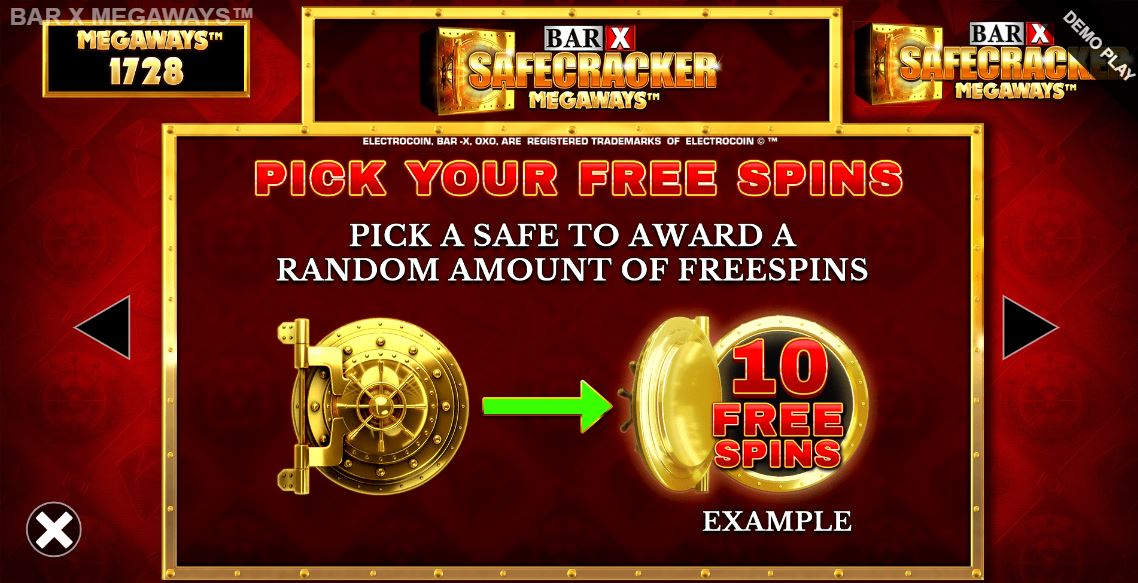 bar x safecracker megaways bonus game
