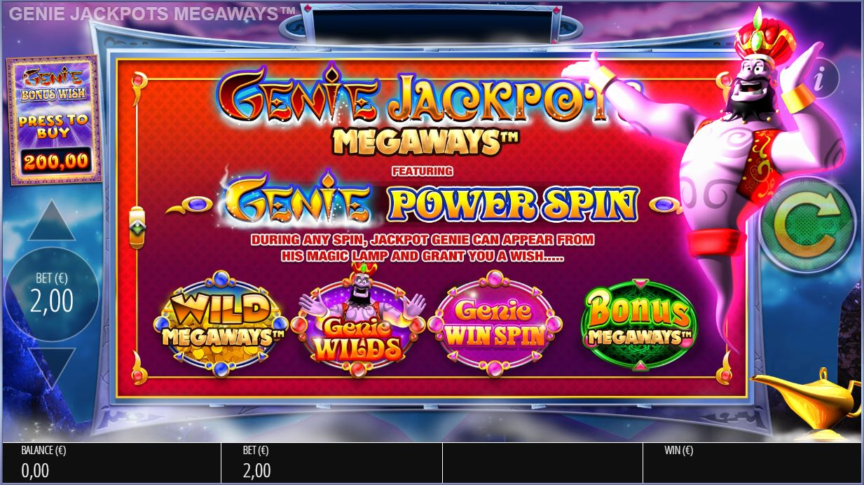 blueprint's genie jackpots megaways