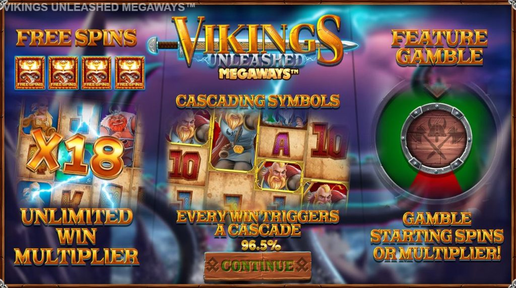 blueprint's vikings unleashed megaways