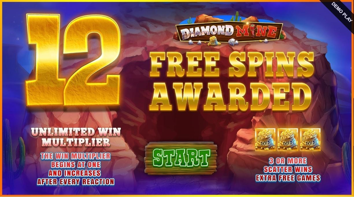 diamond mine megaways bonus game
