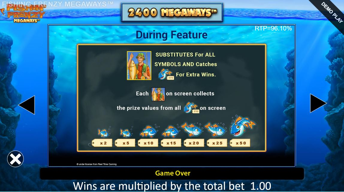 fishin frenzy megaways bonus game wilds