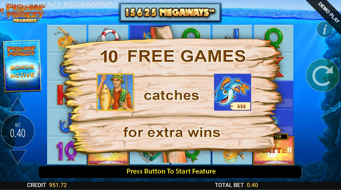 fishin frenzy megaways bonus game