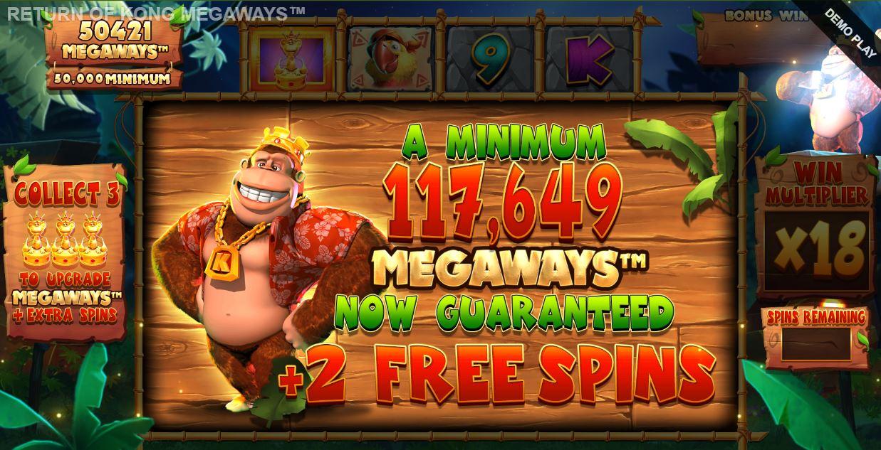 return of kong megaways upgrading megaways