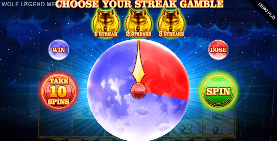 wolf legend megaways streak gamble