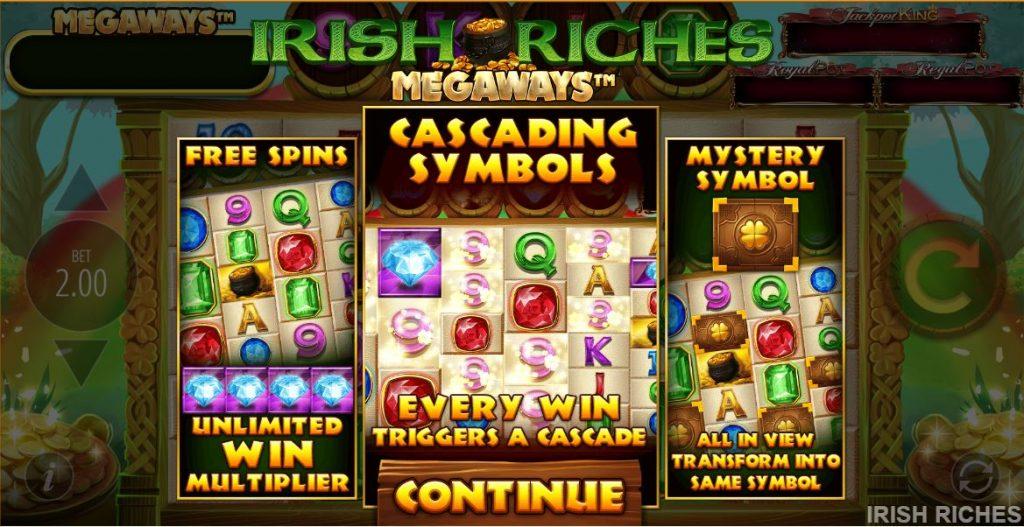 blueprint's irish riches megaways