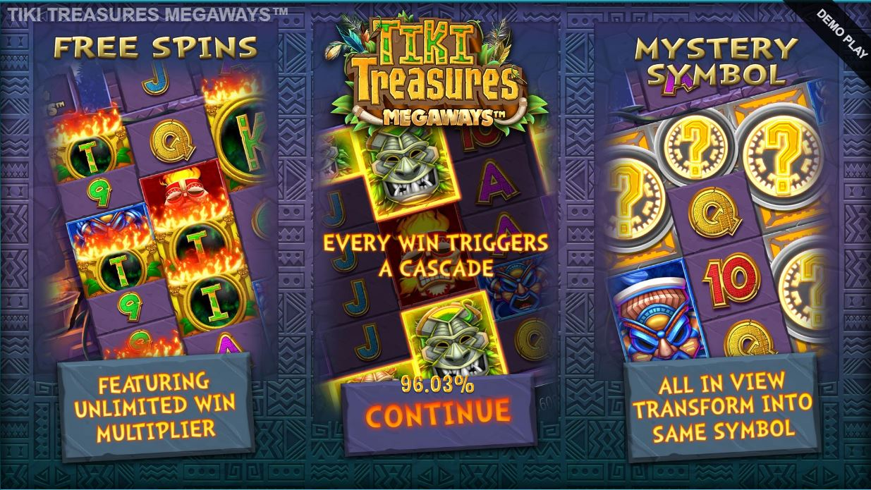 blueprint's tiki treasures megaways
