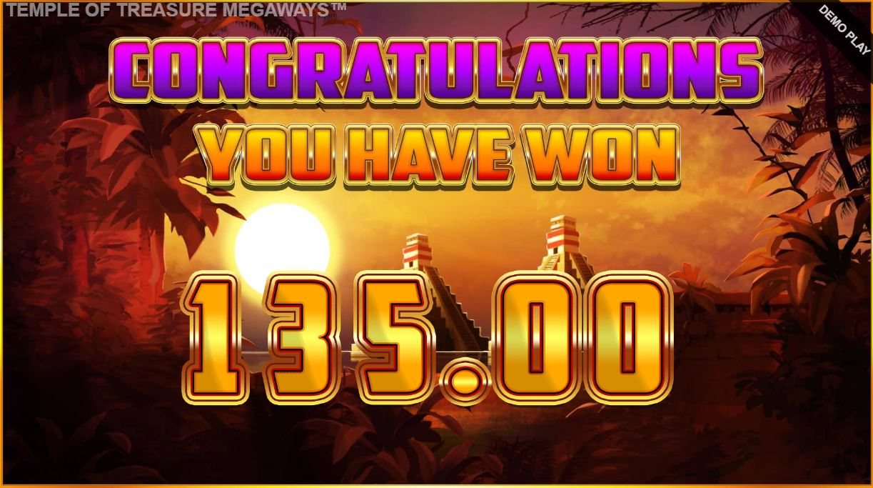 big win in temple of treasure megaways