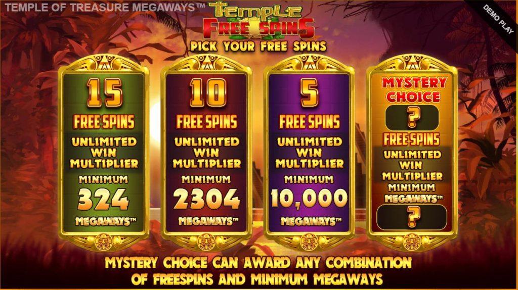 buying the bonus game in temple of treasure megaways