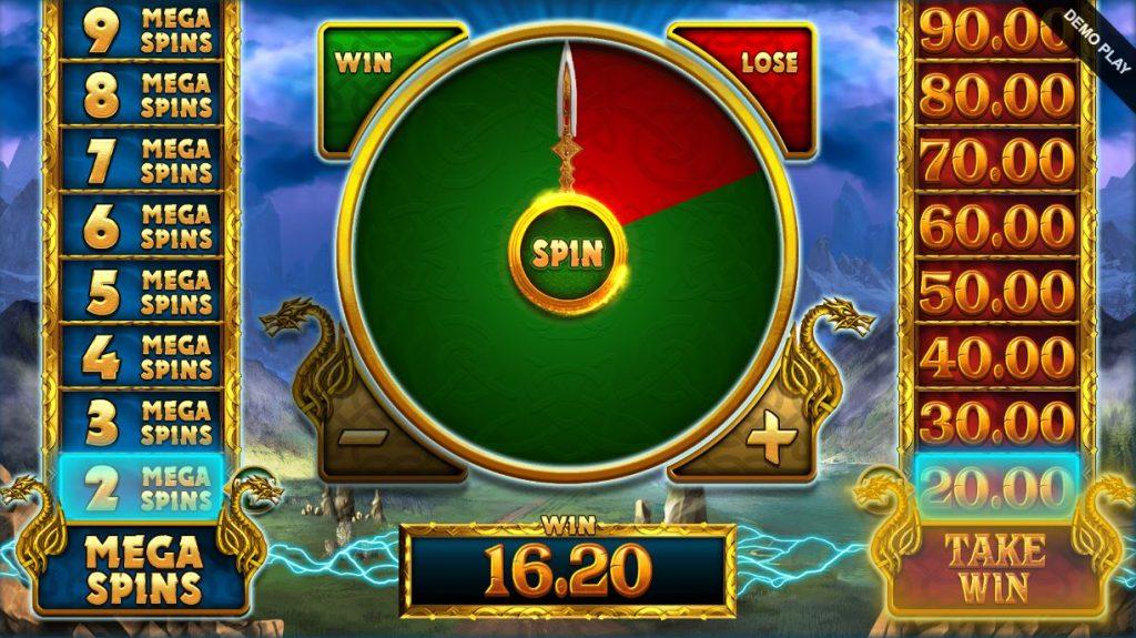 lightning strike megaways mega spin gamble feature