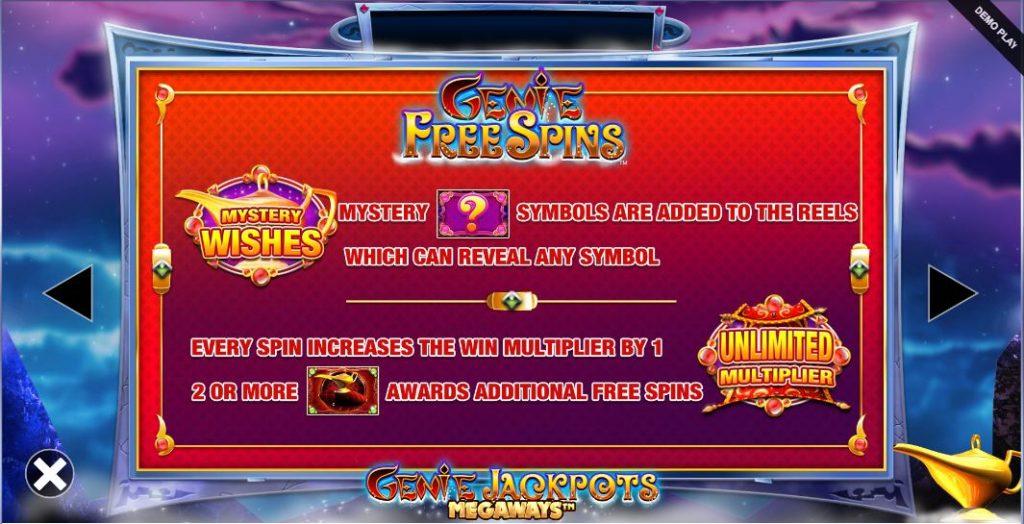genie jackpots megaways bonus game