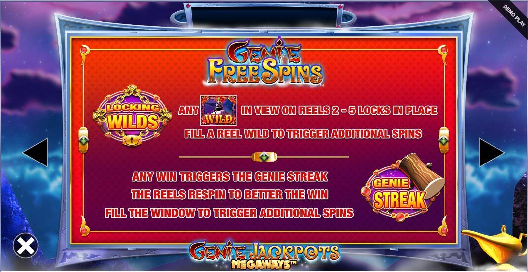 genie jackpots megaways free spins