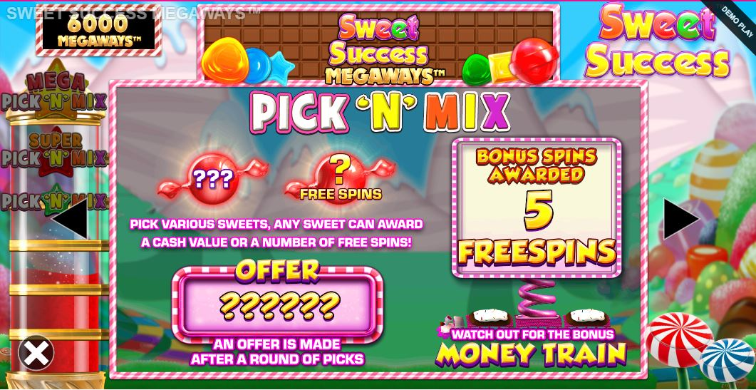 Sweet Success Megaways free spins bonus
