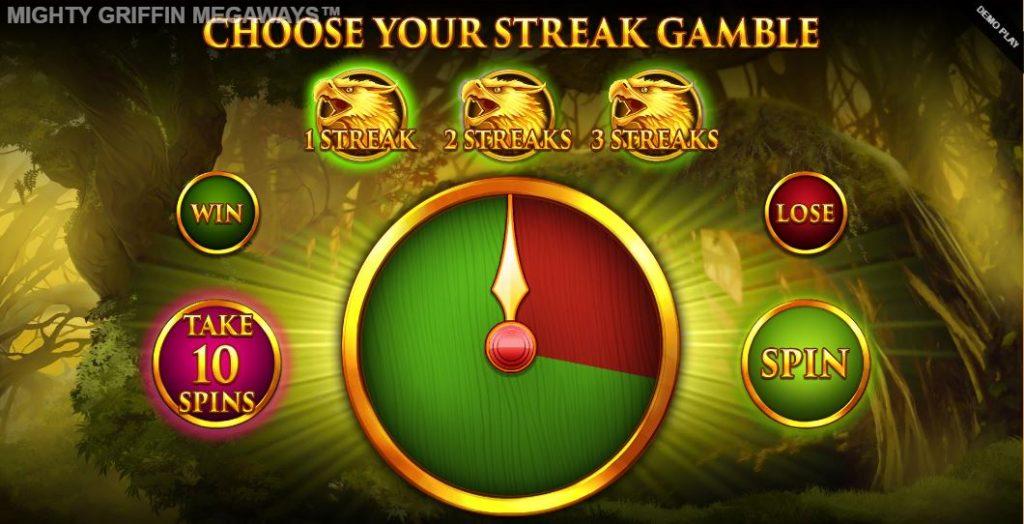 mighty griffin megaways bonus gamble feature