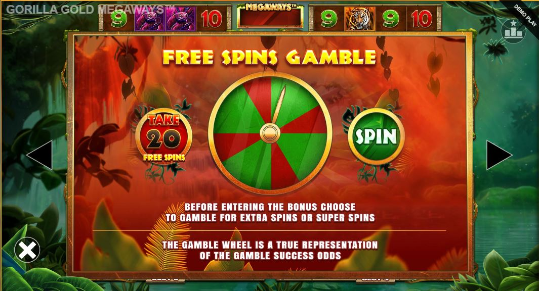 gorilla gold megaways free spins