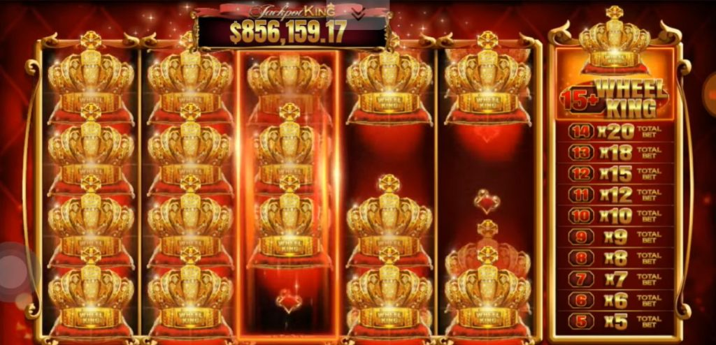jackpot king feature collecting crowns