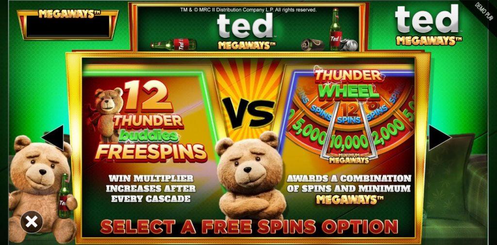 bonus buy feature in ted megaways