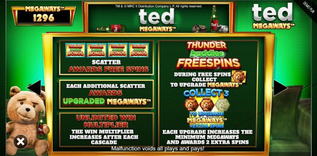 the bonus game in ted megaways