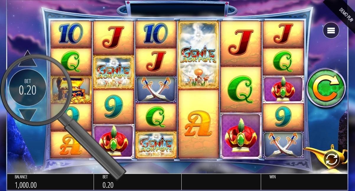 select bet size in genie jackpots megaways