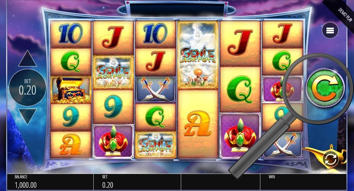 start spinning in genie jackpots megaways