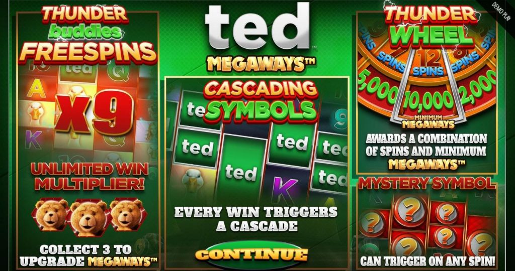 blueprint's slot Ted megaways